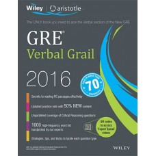 Wiley's GRE Verbal Grail 2016 (English)(Paperback, Aristotle Prep)