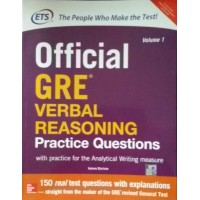 Official GRE Verbal Reasoning Practice Questionswith Practice for the Analytical Writing Measure (Volume 1) (English) 1st Edition